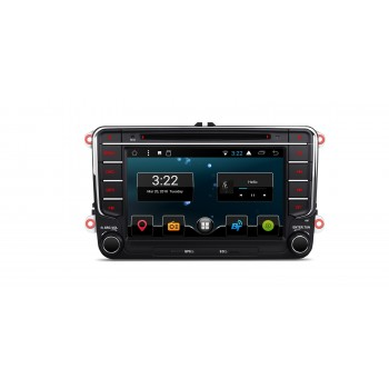 Radio DVD GPS para VW SEAT y SKODA ANDROID 7.1 WIFI USB CANBUS