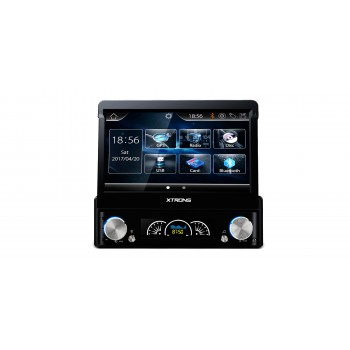 "Radio DVD GPS 1DIN Universal para coche LCD táctil 7""  con frontal extraible"