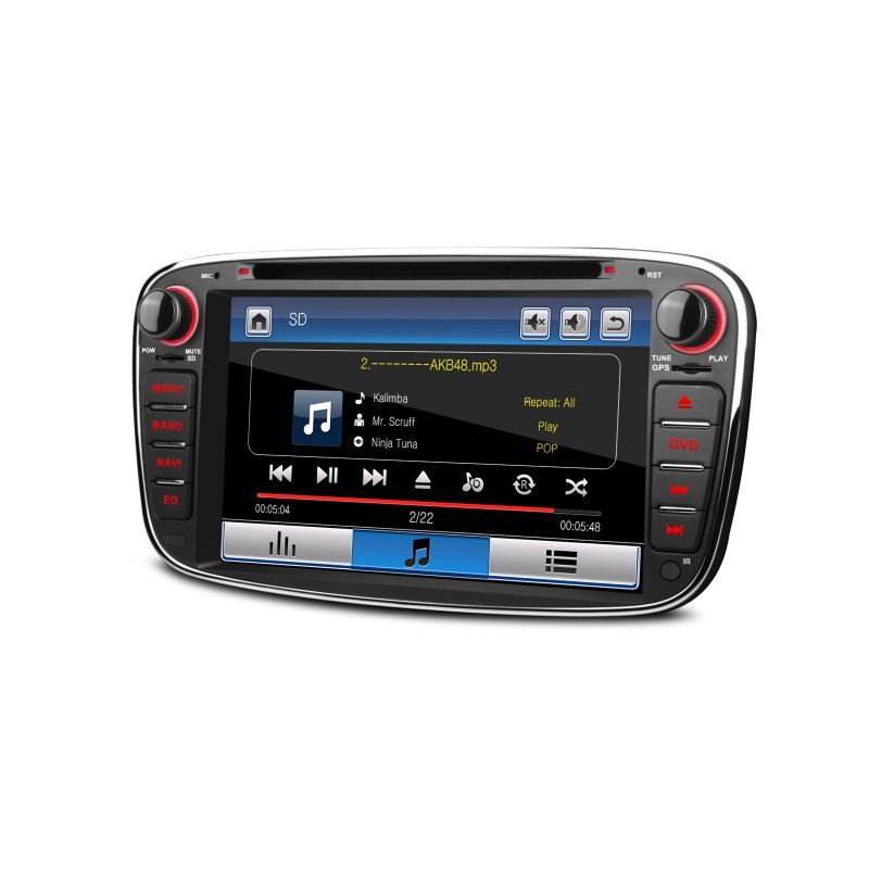 radio dvd gps lcd 7 negra ford focus mondeo c max s max. Black Bedroom Furniture Sets. Home Design Ideas