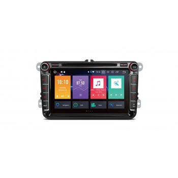"Radio DVD GPS Android 8.0 LCD táctil 8"" VW Seat y Skoda 4GB RAM CarPlay"