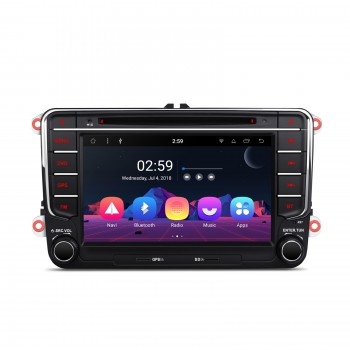 "RADIO DVD GPS Android 8.1 Seat VW Skoda LCD Táctil 7"" GPS BLUETOOTH WIFI"