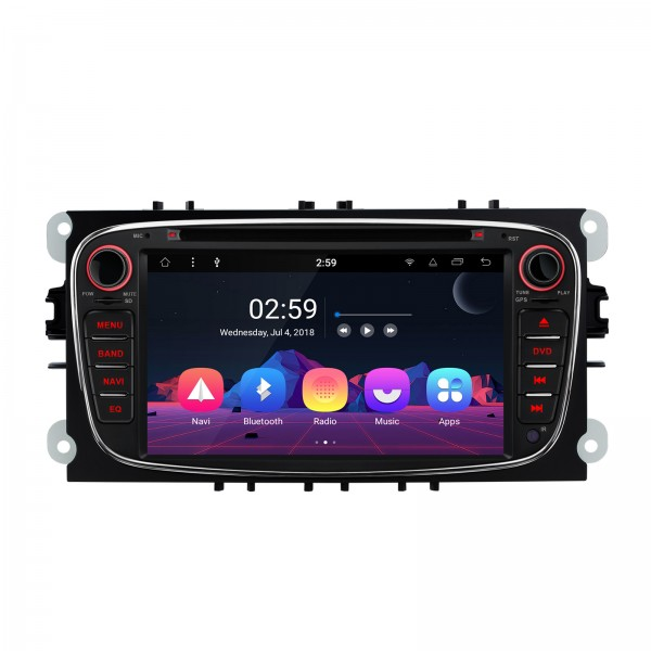 "RADIO DVD GPS LCD TÁCTIL 7"" negro Ford Focus Mondeo...ANDROID 8.1 Octa Core"