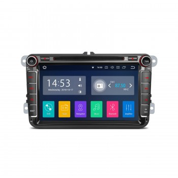 "Navegador Android 8.1 LCD táctil 8"" VW Seat y Skoda CarPlay Full RCA"