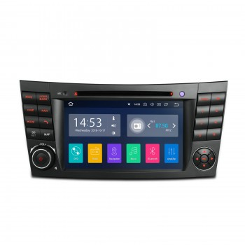 "Navegador GPS LCD 7"" Mercedes Benz Clase E W211 y CLS W219 Android 8.1 CarPlay"