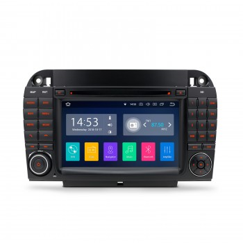 Navegador GPS Mercedes Benz Clase S W220 Android 8.1 CarPlay Bluetooth