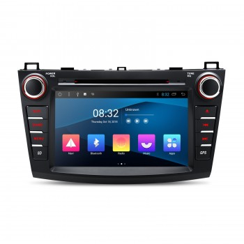 "Navegador Android 8.1 LCD táctil 8"" Mazda 3 Android 8.1 Bluetooth Wifi"