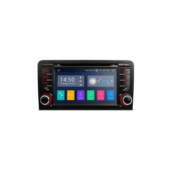 "Navegador LCD TÁCTIL 7"" Audi A3 8P ANDROID 9.0 2Gb RAM CarPlay Dual Zone"