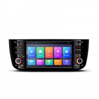 "Navegador Fiat Punto Linea LCD Táctil 6,2"" Android 8.1 Bluetooth Wifi"