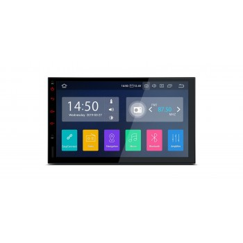 "Navegador GPS 2Din Android 9.0 LCD táctil 7"" CarPlay USB Dual Zone"