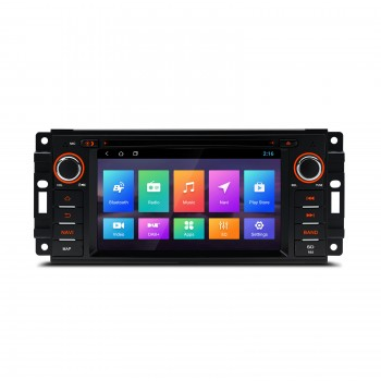 "Navegador GPS para Jeep Dodge y Chrysler LCD táctil 6,2"" Android 8.1"