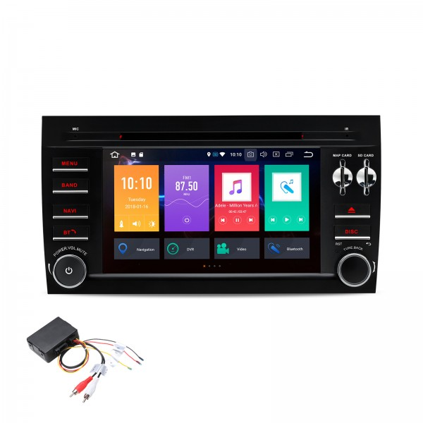 "RADIO DVD GPS LCD TACTIL 7"" PORSCHE CAYENNE ANDROID 8.0 + INTERFACE AUDIO FIBRA"