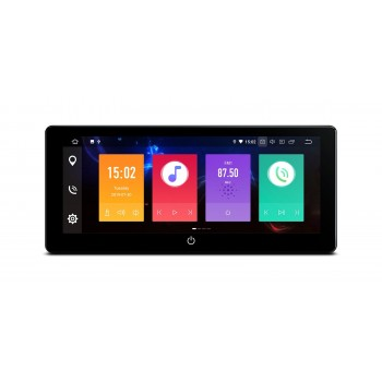 "Navegador 2Din Android 9.0 LCD 10,25"" DPI 4Gb RAM 64Gb ROM CarPlay"