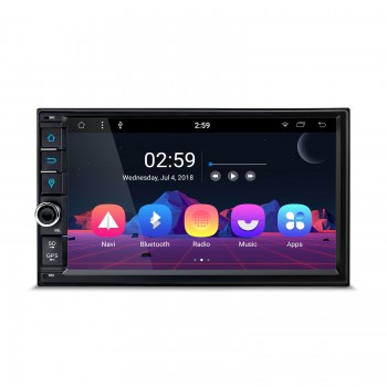 "Navegador GPS Universal 2Din Android 9.0 LCD táctil 7"" Bluetooth y USB"