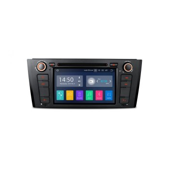 "Navegador GPS BMW Serie 1 E81 E82 E88 Android 9.0 LCD Táctil 7"" CarPlay Full RCA"