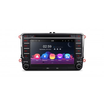 "RADIO DVD GPS Android 9 Seat VW Skoda LCD Táctil 7"" GPS BLUETOOTH WIFI"