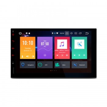 "Navegador GPS Android 9.0 LCD Táctil 7"" 2Din Octa Core 4Gb RAM CarPlay"