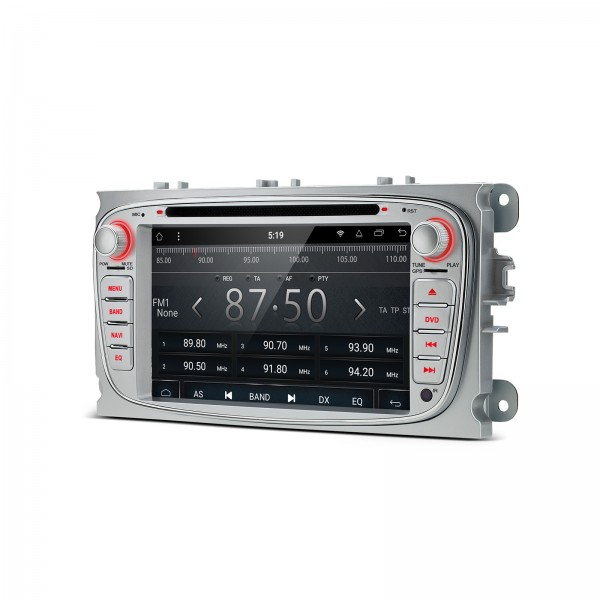 """RADIO DVD GPS LCD TÁCTIL 7"""" gris Ford Focus Mondeo...ANDROID 8.1 Octa Core"""