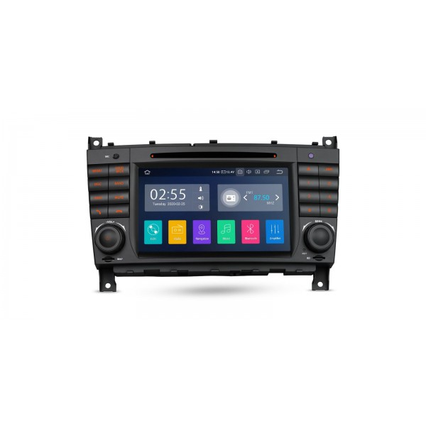 """Navegador LCD 7"""" Mercedes Benz Clase C W203 G W209 y CLK Android 10"""