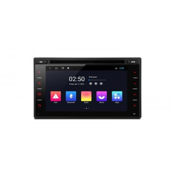 Navegador DVD GPS Universal 2Din Android 10 LCD táctil Bluetooth y USB