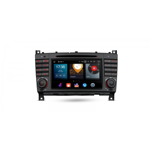 "Navegador GPS 7"" Mercedes Benz Clase C W203 G W209 y CLK Android 10"