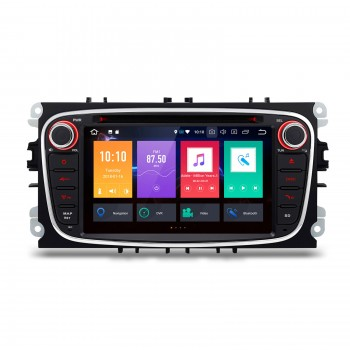 "RADIO DVD GPS LCD TACTIL 7"" negro Ford Focus Cmax Smax...ANDROID 8.0 4Gb RAM"