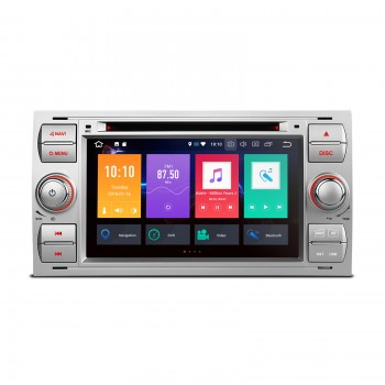 "RADIO DVD GPS LCD TACTIL 7"" para Ford ANDROID 8.0 4Gb RAM Focus Cmax Smax..."